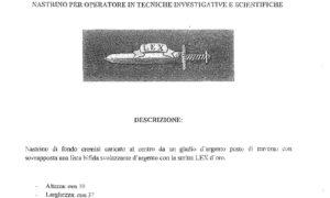 Nastrino per i frequentatori Corsi Operatore Tecniche Investigative e Tecniche Scientifiche