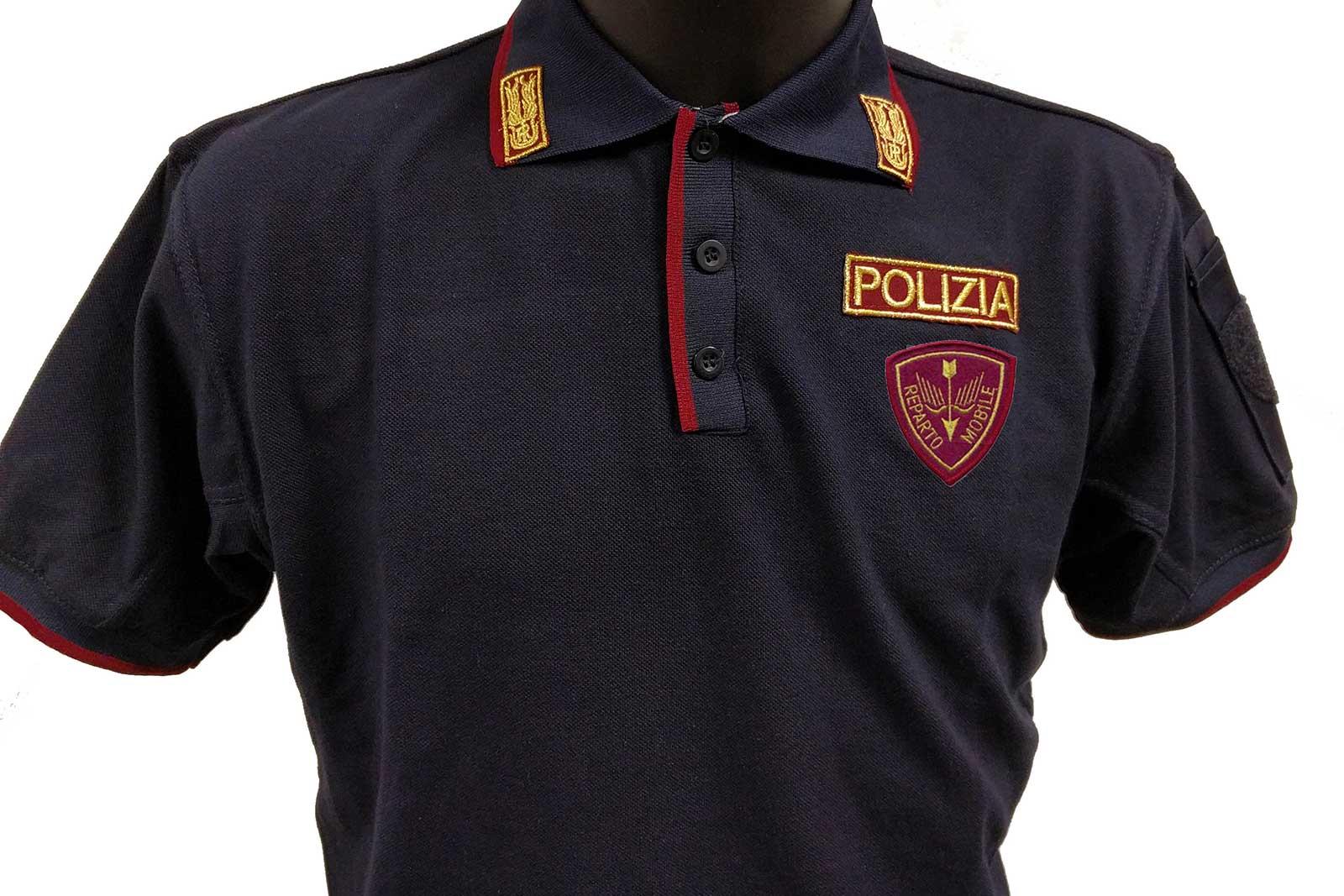 maglia polo reparto mobile polizia di stato
