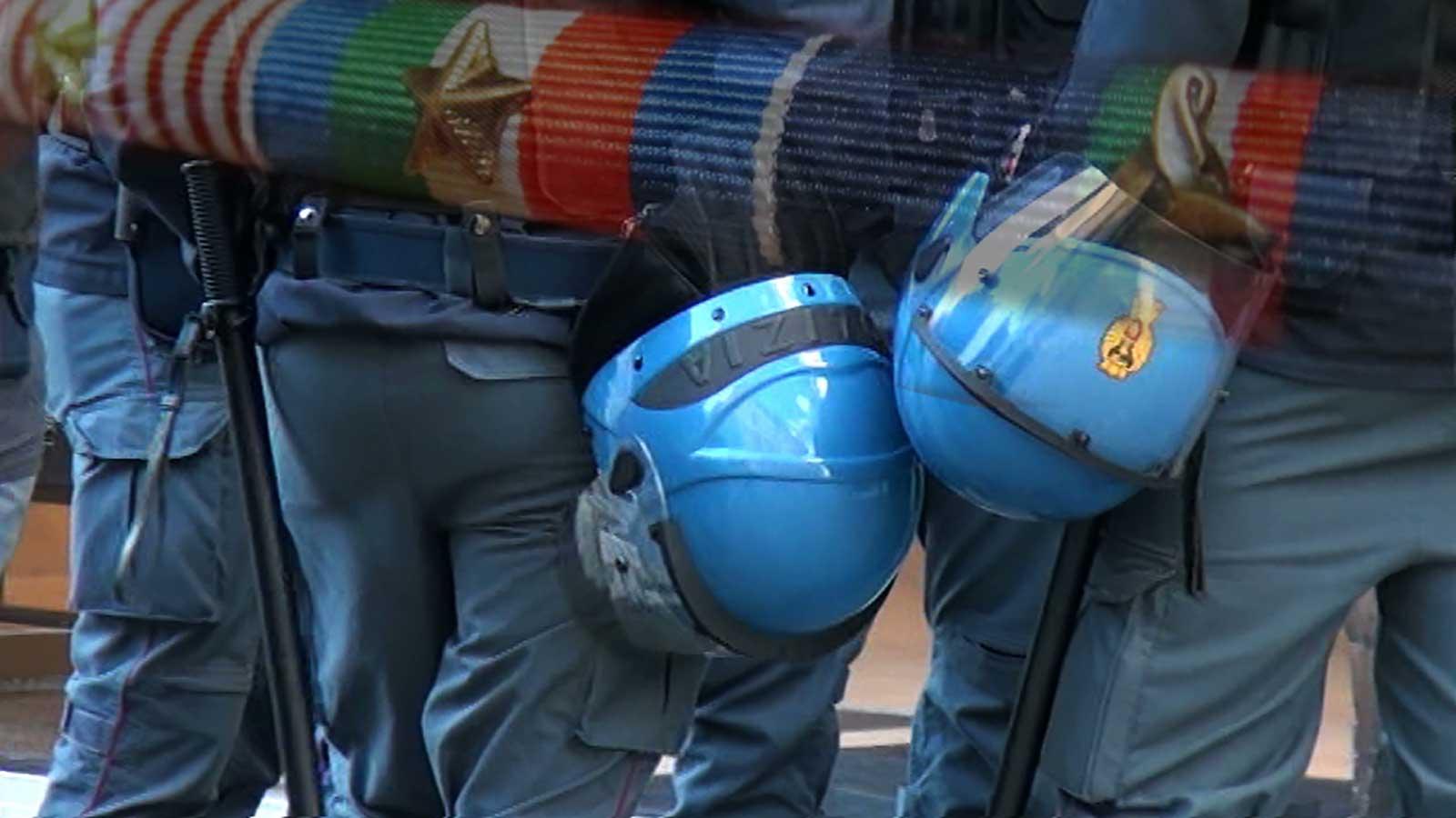 Nastrino Ordine pubblico polizia di stato