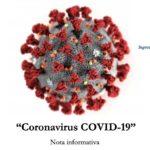 """""""Coronavirus COVID-19"""" Nota informativa a cura della Segreteria Provinciale della UIL Polizia di Benevento"""