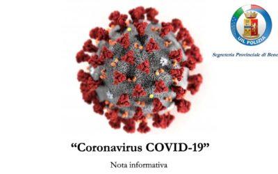 Coronavirus UIL Polizia Benevento